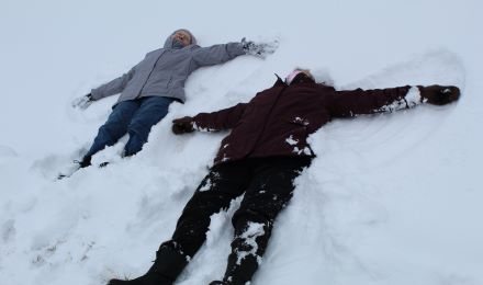 Snow Angels at Lincoln's The Landing