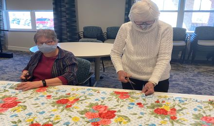Lakeside residents serve by making blankets for local organizations